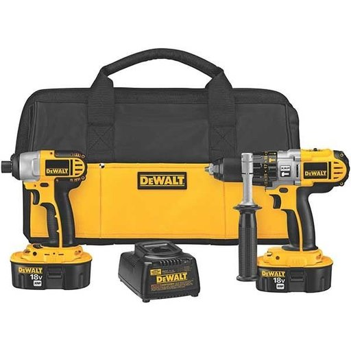 View a Larger Image of 18V Cordless XRP Hammer Drill/Impact Driver Combo Kit, Model DCK255X