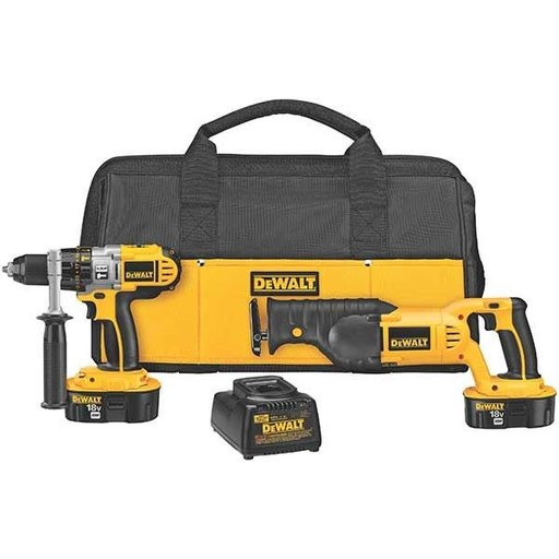 View a Larger Image of 18V Cordless XRP Hammer Drill/Reciprocating Saw Combo Kit, Model DCK251X