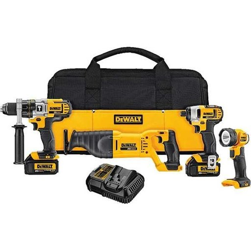 View a Larger Image of 20V MAX Lithium Ion 4-Tool Combo Kit (3.0 Ah), Model DCK490L2