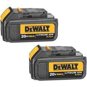 20V MAX Lithium Ion Battery Pack (3.0 Ah), 2 Pieces, Model DCB200-2
