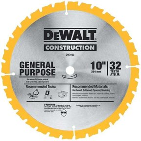 "DW3103 Circular Saw Blade 10"" x 32 Tooth"