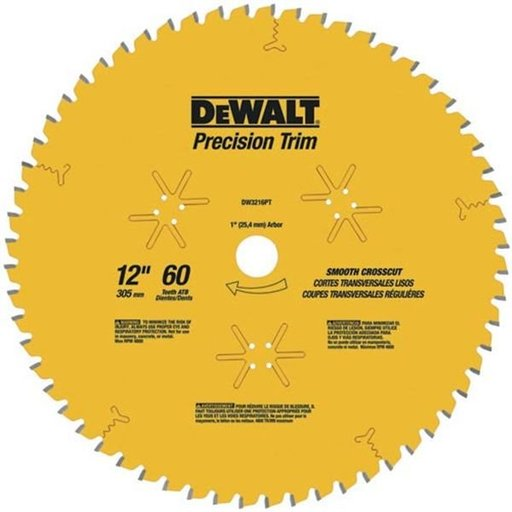 "View a Larger Image of DW3232PT Fine Cut Coated Circular Saw Crosscut Saw Blade 12"" x 80 Tooth Thin Kerf"