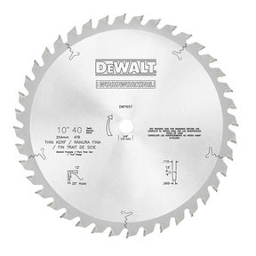 DW7657 10-Inch 40 Tooth ATB General Purpose Saw Blade