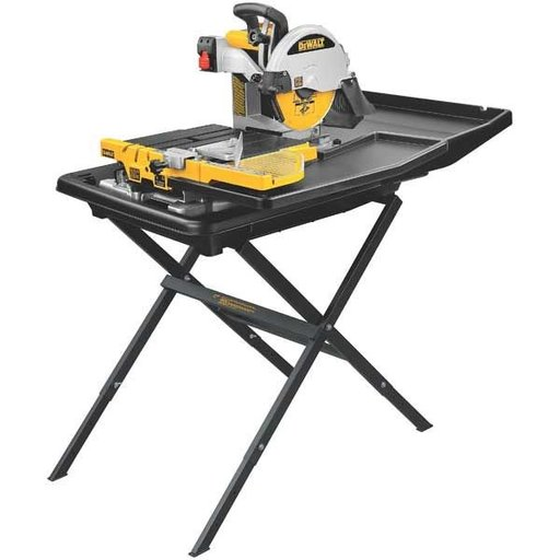 "View a Larger Image of Heavy-Duty 10"" Wet Tile Saw with Stand, Model D24000S"