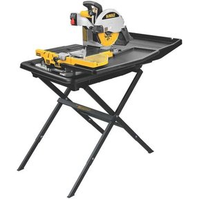 "Heavy-Duty 10"" Wet Tile Saw with Stand, Model D24000S"