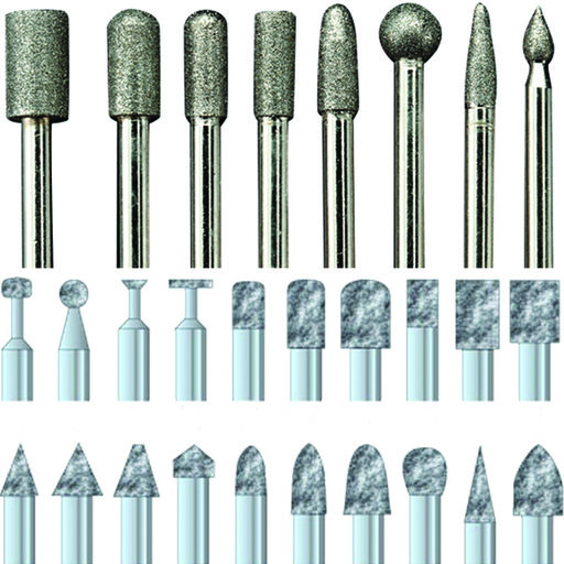 "View a Larger Image of Diamond Dust Carving Burr Set, 1/8"" Shank, 28 piece"