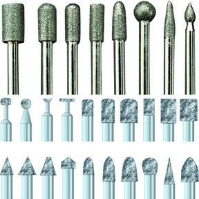 "Diamond Dust Carving Burr Set, 1/8"" Shank, 28 piece"