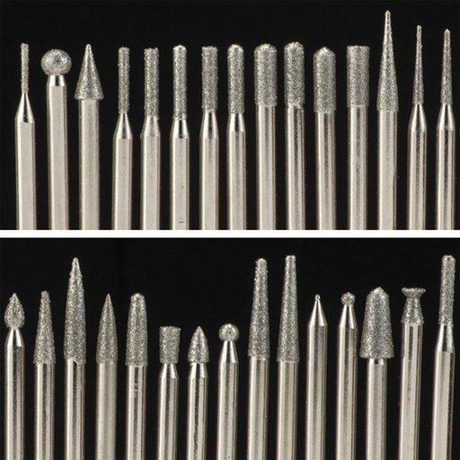 View a Larger Image of Diamond Tip Carving Burr Set, 120 piece