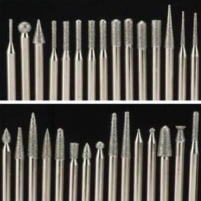 Diamond Tip Carving Burr Set, 120 piece