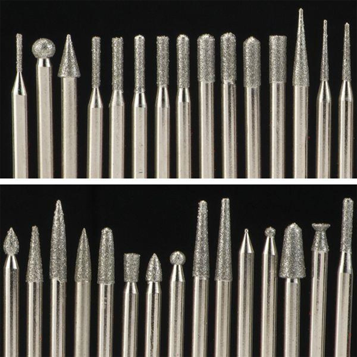 WoodRiver - Diamond Tip Carving Burr Set, 120 piece
