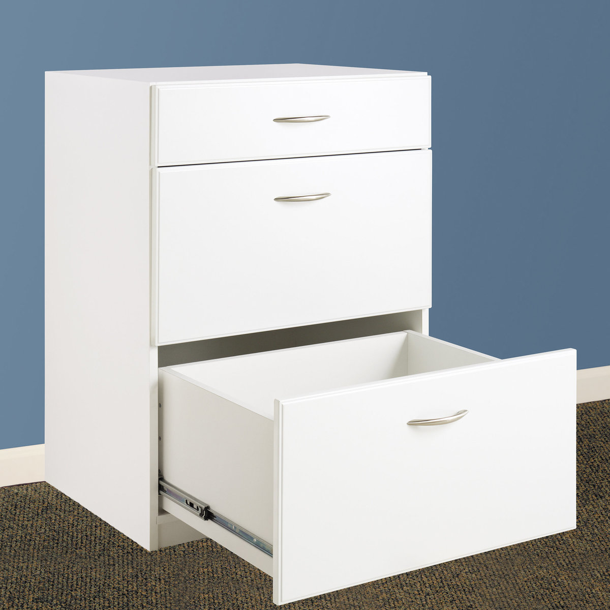 Picture of: Closetmaid Dimensions 3 Drawer Base Cabinet White