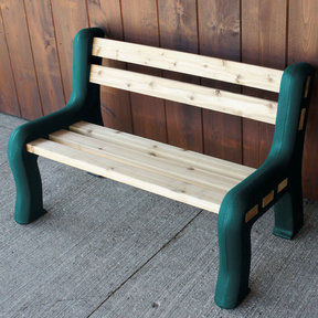 DIY Bench Ends, Green