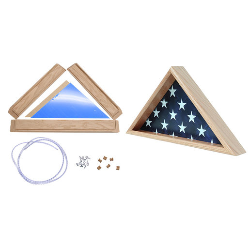 View a Larger Image of Do It Yourself Memorial Flag Case, Oak,