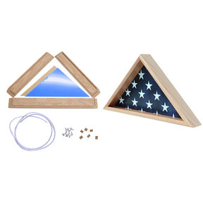 Do It Yourself Memorial Flag Case, Oak,