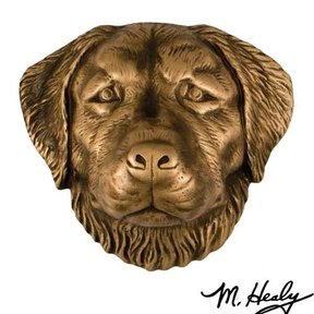Dog Knockers Golden Retriever Door Knocker, Bronze