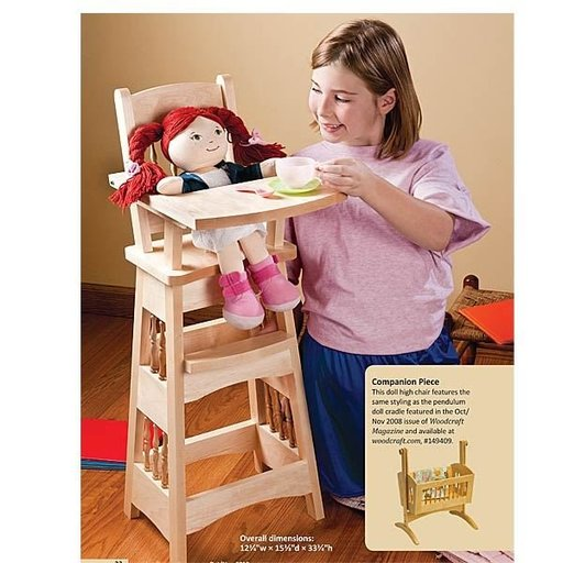 View a Larger Image of Doll High Chair - Downloadable Plan