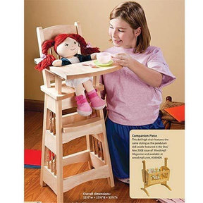 Doll High Chair - Paper Plan