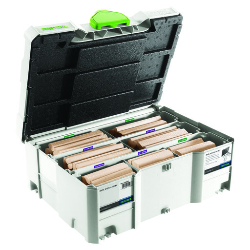 View a Larger Image of Festool Domino Cutter and Tenon Assortment Systainer 12mm & 14mm Mix