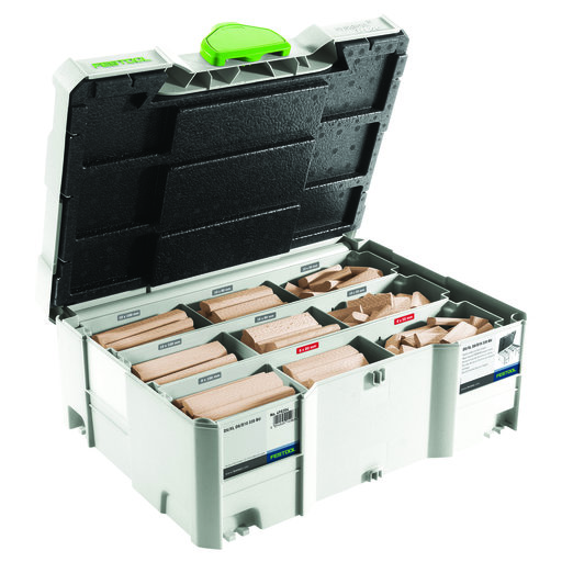 View a Larger Image of Domino Cutter and Tenon Assortment Systainer 8mm & 10mm Mix