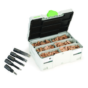 Domino Cutter and Tenon Assortment Systainer with T-LOC