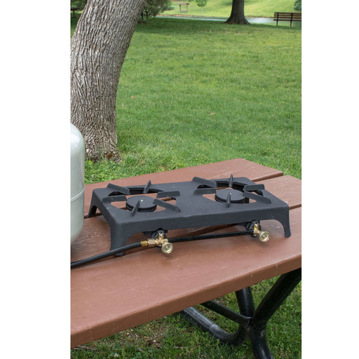 View a Larger Image of Double Burner Propane Camp Stove