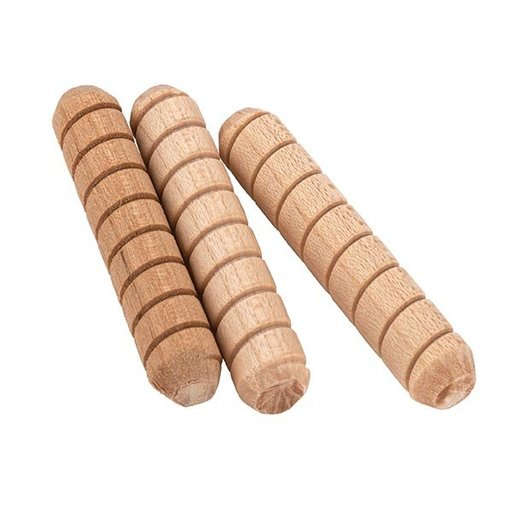 """View a Larger Image of 100 pc 1/4"""" x 1-1/2"""" Spiral Groove Wood Dowel Pins"""