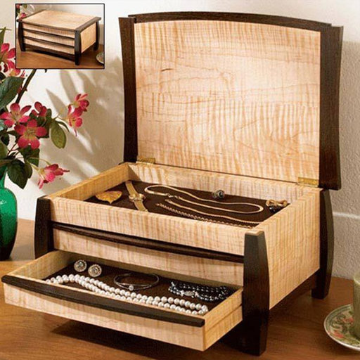 View a Larger Image of Downloadable Woodworking Project Plan to Build A Gem of a Jewelry Box