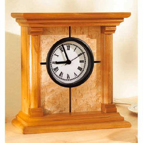 Downloadable Woodworking Project Plan to Build Architectural Clock