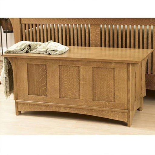 View a Larger Image of Downloadable Woodworking Project Plan to Build Arts and Crafts Blanket Chest