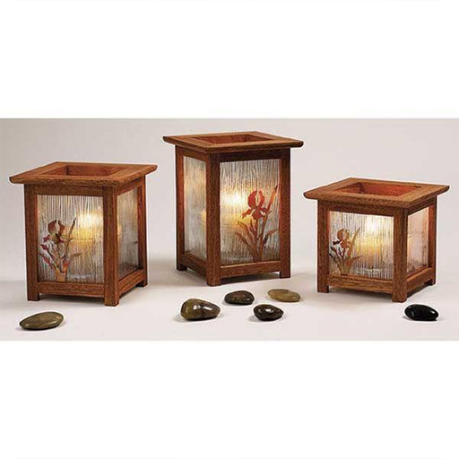 View a Larger Image of Downloadable Woodworking Project Plan to Build Arts and Crafts Candle Lanterns