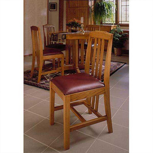 View a Larger Image of Downloadable Woodworking Project Plan to Build Arts and Crafts Dining Chairs