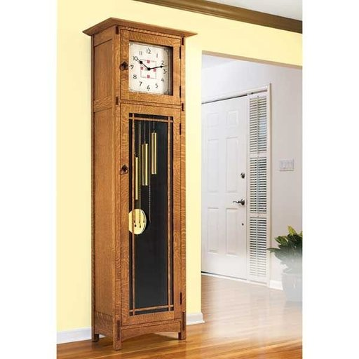 View a Larger Image of Downloadable Woodworking Project Plan to Build Arts and Crafts Heirloom Tall Clock