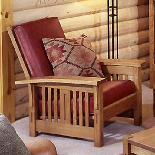 Downloadable Woodworking Project Plan to Build Arts and Crafts Morris Chair