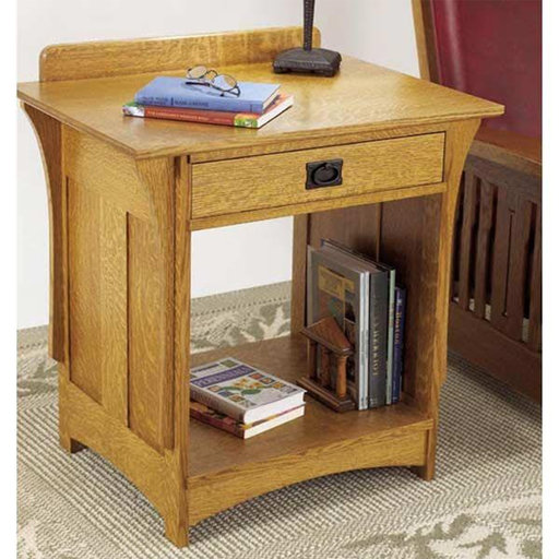 View a Larger Image of Downloadable Woodworking Project Plan to Build Arts and Crafts Nightstand