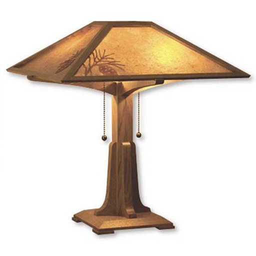 View a Larger Image of Downloadable Woodworking Project Plan to Build Arts and Crafts Table Lamp