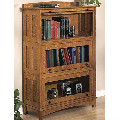 View a Larger Image of Downloadable Woodworking Project Plan to Build Barrister's Bookcase