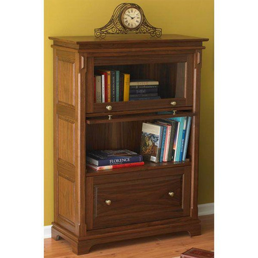 View a Larger Image of Downloadable Woodworking Project Plan to Build Barristers Bookcase