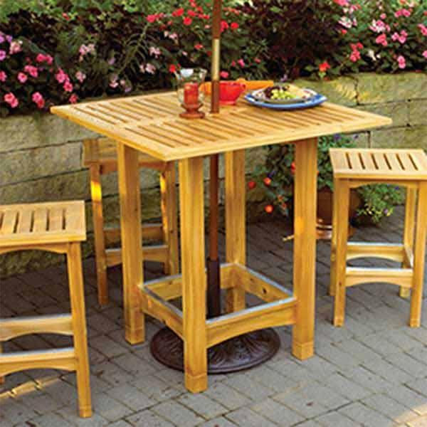 Downloadable Woodworking Project Plan To Build Bistro Patio Table