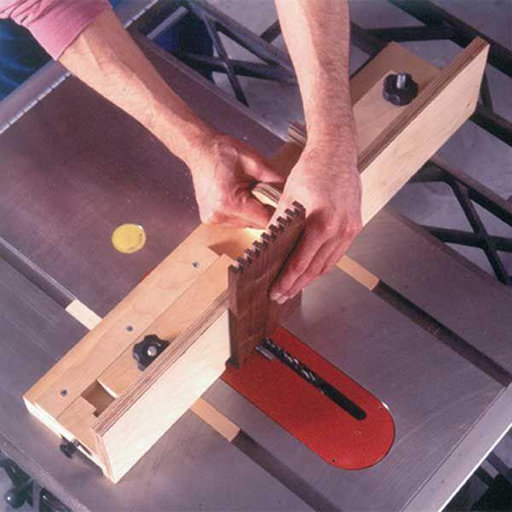 View a Larger Image of Downloadable Woodworking Project Plan to Build Box-Joint Jig Plan with a Penchant for Precision