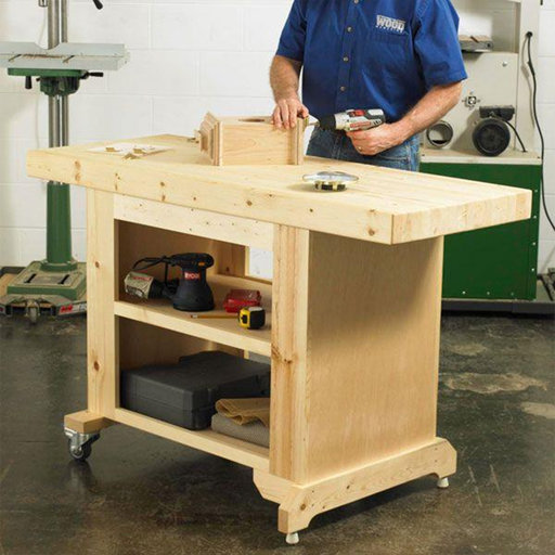 View a Larger Image of Downloadable Woodworking Project Plan to Build Budget-Friendly Workbench