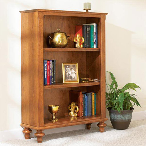 View a Larger Image of Downloadable Woodworking Project Plan to Build Build-in-a-Weekend Bookcase
