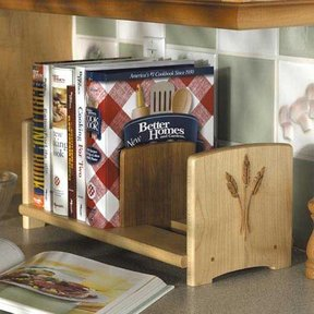 Downloadable Woodworking Project Plan to Build Chef's Bookshelf
