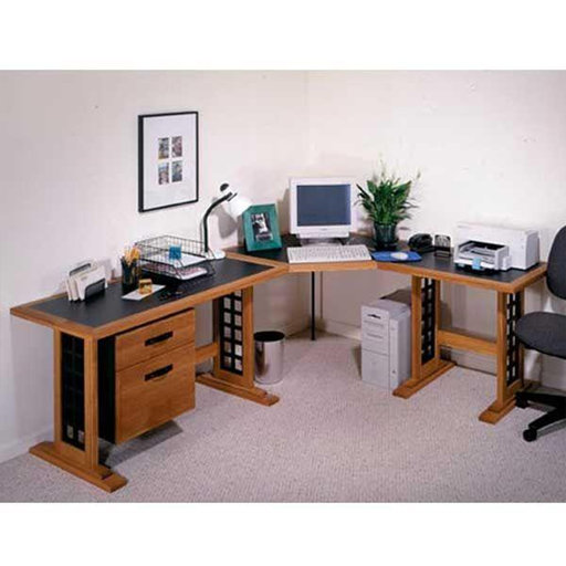 View a Larger Image of Downloadable Woodworking Project Plan to Build Computer Desk