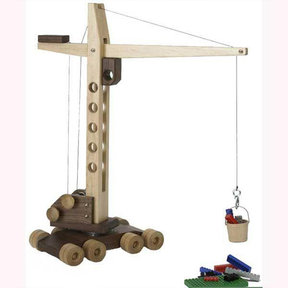 Downloadable Woodworking Project Plan to Build Contractor Grade Mobile Crane Toy