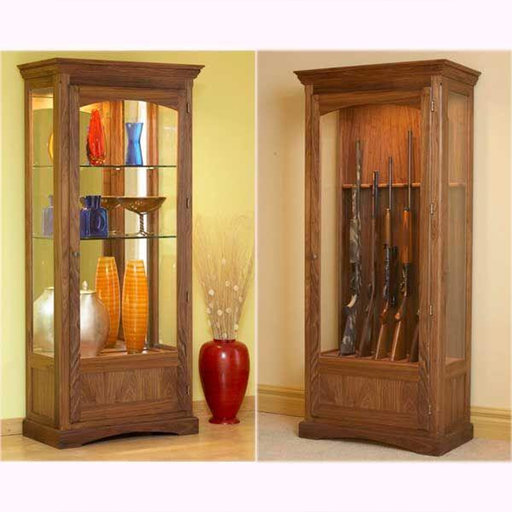 View a Larger Image of Downloadable Woodworking Project Plan to Build Convertible Display and Gun Cabinet