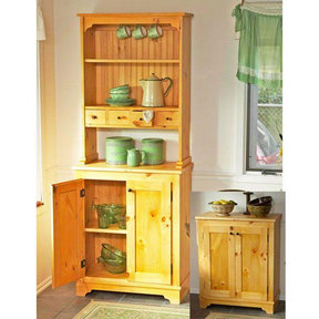 Downloadable Woodworking Project Plan to Build Country Pine Cabinet