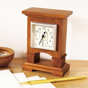 Downloadable Woodworking Project Plan to Build Easy-To-Make Desk Clock