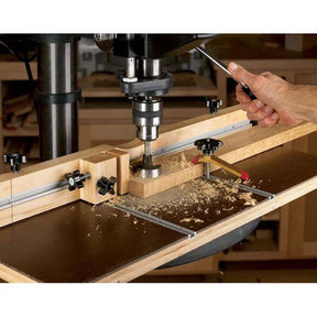 Downloadable Woodworking Project Plan to Build Feature-Packed Drill-Press Table