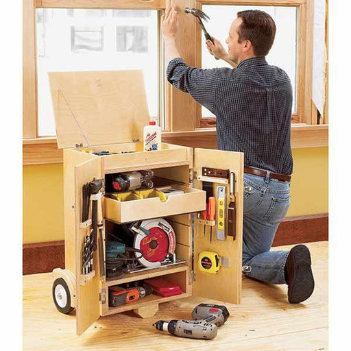 View a Larger Image of Downloadable Woodworking Project Plan to Build Go-Anywhere Tool Caddy
