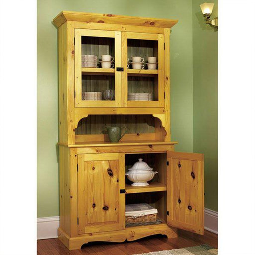 View a Larger Image of Downloadable Woodworking Project Plan to Build Heirloom Pine Hutch